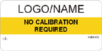 No Calibration Required Label Custom