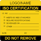 ISO Certification Label [add name or logo]