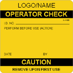 Operator Check Label [add name or logo]