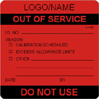 Custom Out of Service Label [add name/logo]