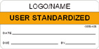 User Standardized Label [add name or logo]