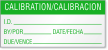 Calibration/Calibracion Bilingual Calibration Label
