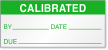 Calibrated By, Date, Due Label