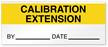 Calibration Extension By Date Write-On Quality Control Label