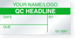 Customizable Self-Debossing Calibration Label, Add Name/Logo, QC Headline