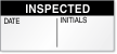 Inspected Date, Initials Quality Control Label