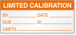 Limited Calibration By, Date, Due, ID, Limits Label