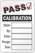 Pass Calibration Write On Label