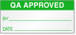 QA Approved Green Calibration Label
