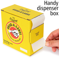Accepted By QC Labels Dispenser Box