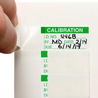 "½"" x 1"" Mini Self-Laminating Calibration Label"