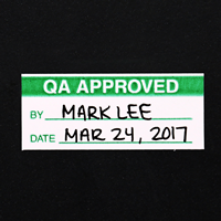5/8' x 1½' Write-On Calibration Label
